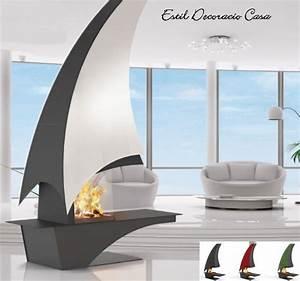 Cheminée Bois Design : cheminee bois centrale design ~ Premium-room.com Idées de Décoration