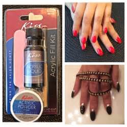 Kiss acrylic nail kit review and demo diy