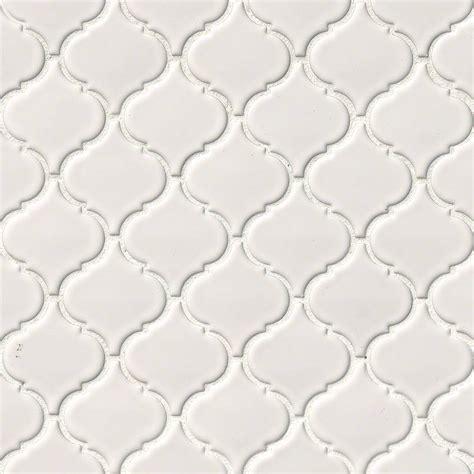 arabesque white tile white glossy arabesque backsplash tile white tile collection