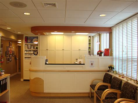 Uconn Health Center Front Desk by Interior Categories Dental Office Design Diversified