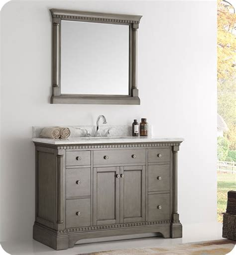 If two sinks are being used each should have. Fresca Kingston (single) 49-inch Traditional Bathroom ...