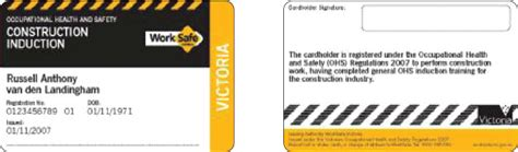recognition  general construction induction training cards