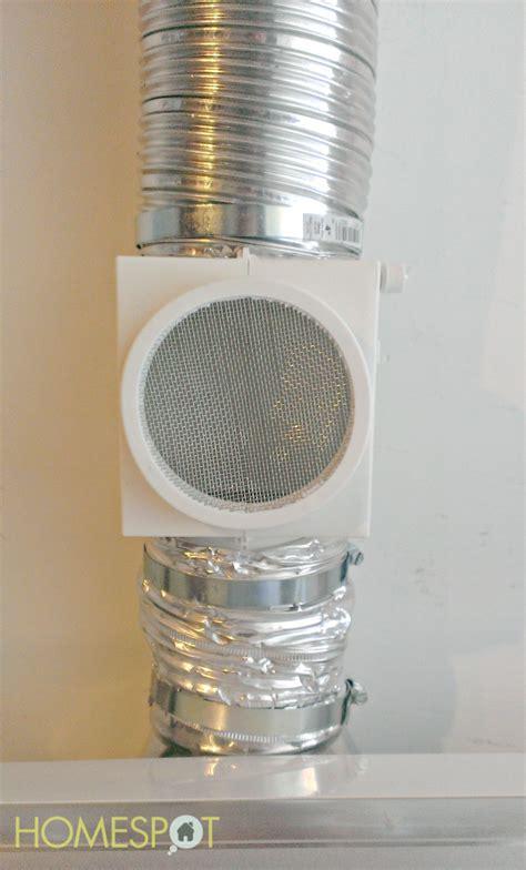 dryer vent keeping the dryer heat inside Interior