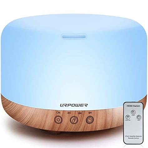 Humidifier For Bedroom by Urpower 1000ml Essential Diffuser Humidifiers Remote