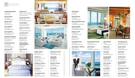 interior design magazines list