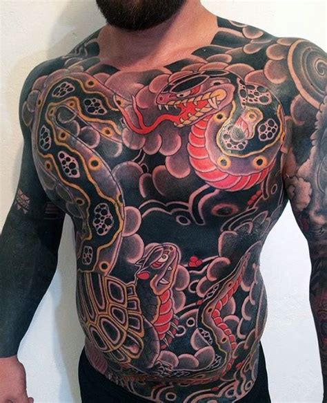 japanese chest tattoos  men masculine design ideas