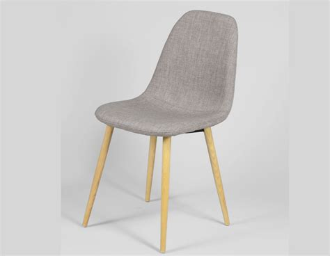chaise grise tissu chaise scandinave grise