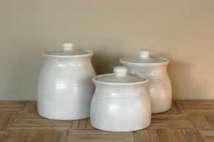 ceramic canister sets for kitchen vintage white ceramic canisters set of 3