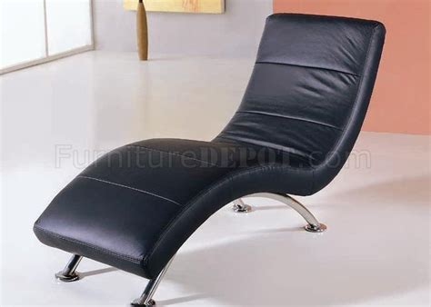 modern leather chaise lounge black color leather upholstery modern chaise lounge