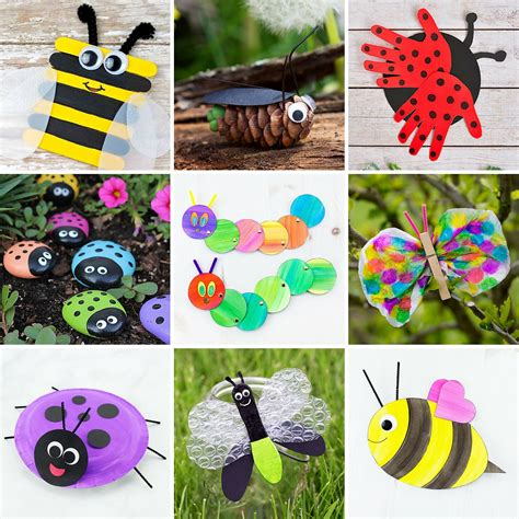the most easy and beautiful flower crafts 346 | Insect Crafts for Kids 3