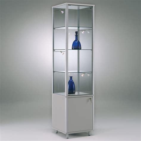 glas schiebetür abschliessbar exklusive glas standvitrine abschlie 223 bar mit unterschrank
