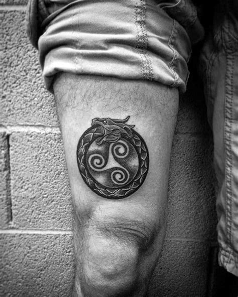 75 Ouroboros Tattoo Designs For Men - Circular Ink Ideas