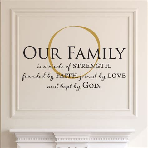 We are mere trivial entities of god. Our Family Is Kept By God Wall Quotes™ Decal   WallQuotes.com