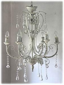 Shabby Chic Lampen : kronleuchter l ster antik shabby landhaus wei eisen metall lampe vintage neu chandelier ~ Orissabook.com Haus und Dekorationen