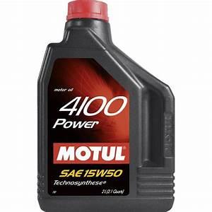 Huile Moteur Essence : huile moteur motul power 4100 essence diesel 15w50 2l ~ Melissatoandfro.com Idées de Décoration