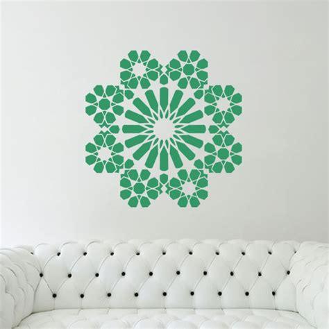 stickers muraux islam pas cher sticker islam en forme de fleur pas cher stickers design discount stickers muraux madeco