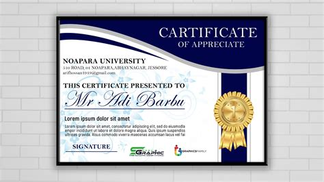 certificate design psd  graphicsfamily