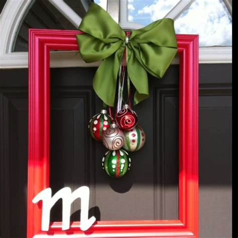 christmas frame wreath crafts pinterest