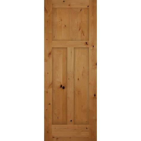 home depot interior wood doors 32 in x 80 in 3 panel craftsman solid knotty alder