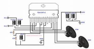 15w 15w Dual Bridge Amplifier Designed By Using Tda7297 Ic