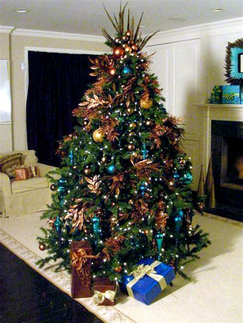blue and brown christmas tree tree decorating ideas violamazing