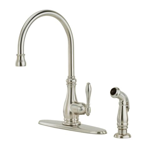stainless steel faucet kitchen shop pfister alina stainless steel 1 handle high arc