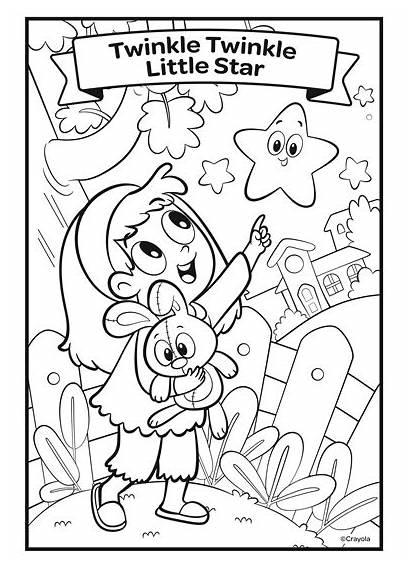 Twinkle Star Nursery Rhymes Coloring Pages Crayola
