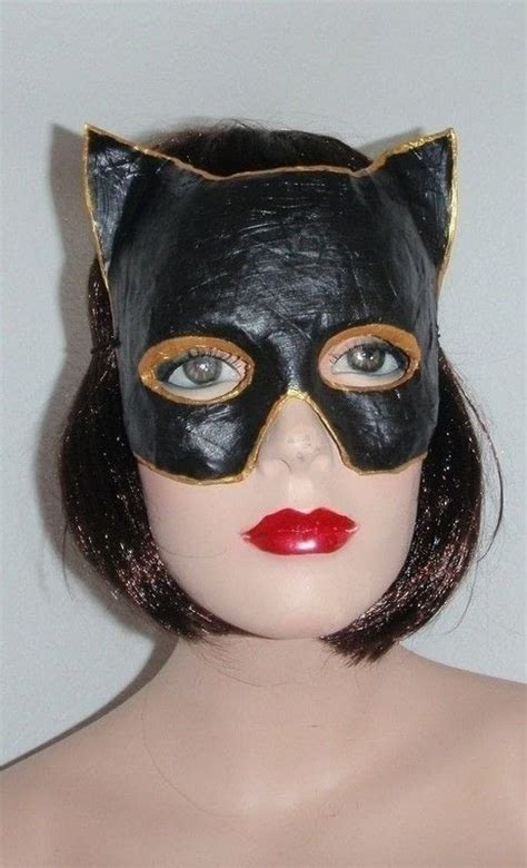 catwoman mask  mask papercraft  papier mache