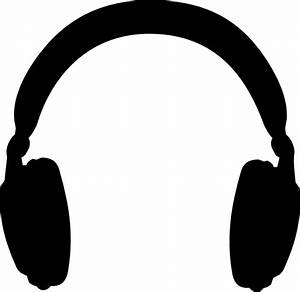 Headphone clipart silhouette - Pencil and in color ...
