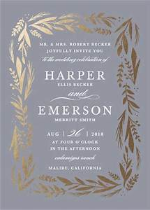 quotflorabelquot customizable foil pressed wedding invitations With pressed lavender wedding invitations