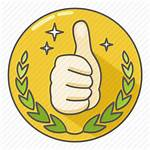 Icon Praise Stamp Excellent Award Awesome Icons