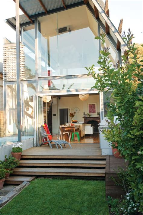 australian bungalow   modern addition  lap pool