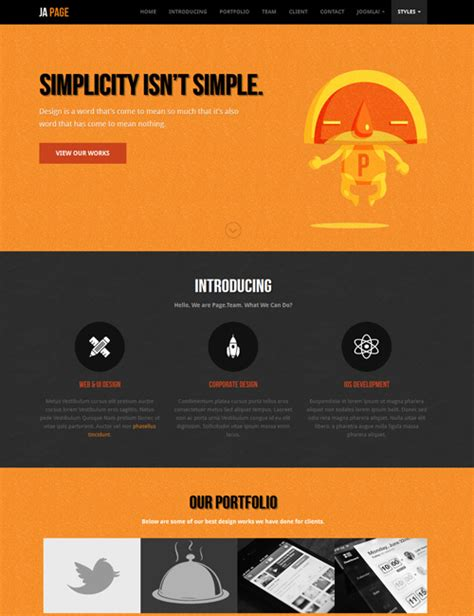 one pager template ja onepage one page joomla template for business joomla templates and extensions provider