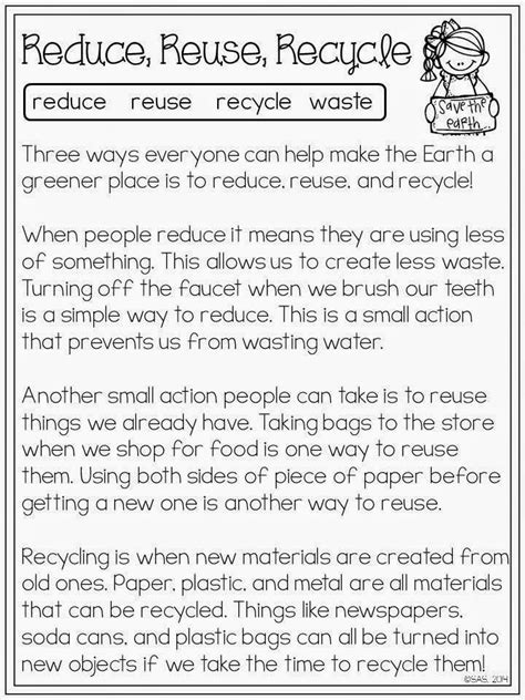 hooray earth day reading comprehension worksheets