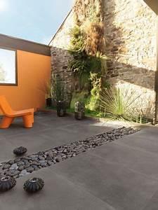 Modele De Terrasse Exterieur : id e de terrasse en pierre moderne reconstitu e d co ~ Teatrodelosmanantiales.com Idées de Décoration