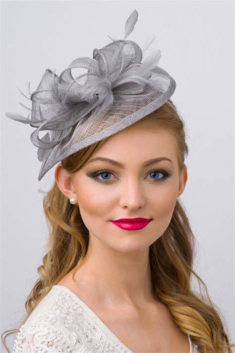 penny fascinator gray hot hats pinterest