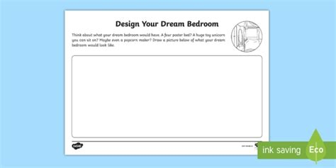 Bedroom Blueprint Activity the home aistear design your bedroom activity sheet
