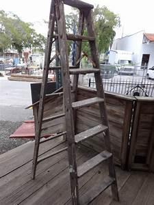 6, Ft, Vintage, Wooden, Ladder