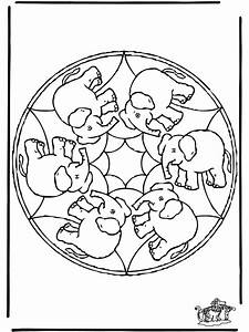 Mandala Elefant Malvorlagen Tiermandalas