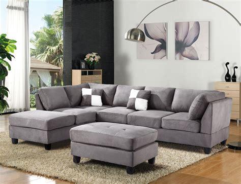Microfiber Sectional Sofa by Gray Microfiber Sectional Sofa Great Grey Microfiber
