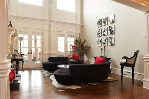 attractive black sofa living room home design lover