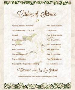 16 wedding order of service templates free sample With wedding ceremony order of service