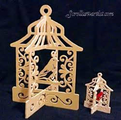 scroll saw patterns miscellaneous birdcages birdhouses slotted birdcage ornament 9