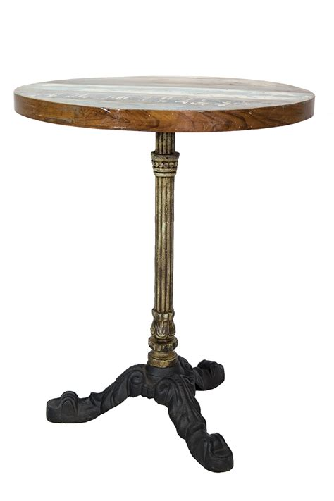 table ronde en fer forge table ronde de bar de style parisien pied en fer forg 233