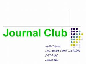 journal club authorstream With journal club powerpoint template