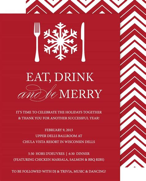 Holiday Party Invite Free Ideas (With images) Christmas