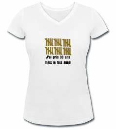 T Shirt 30 Ans : tshirt anniversaire 30 ans original anniversaire 30 ans des id es cadeau texte citation ~ Voncanada.com Idées de Décoration