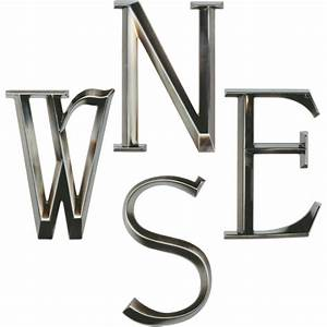 whitehall 6quot classic house numbers letters brushed With brushed nickel letters