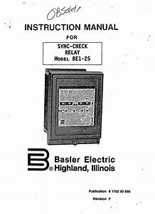 sync check relay model be1 25 manual basler electric With general electric relay manuals