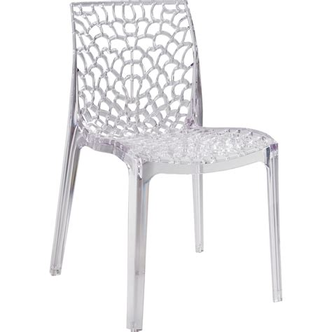 chaise salon de jardin chaise de jardin en polycarbonate grafik transparent